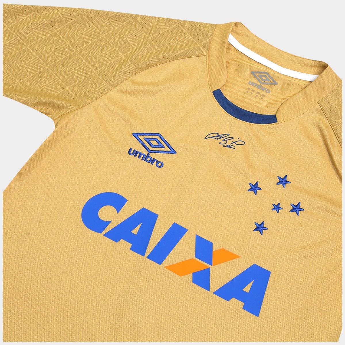 Camisa Cruzeiro Goleiro 17 18 nº 1 - Fábio Torcedor Umbro Masculina ... 9139b1d36fb7a