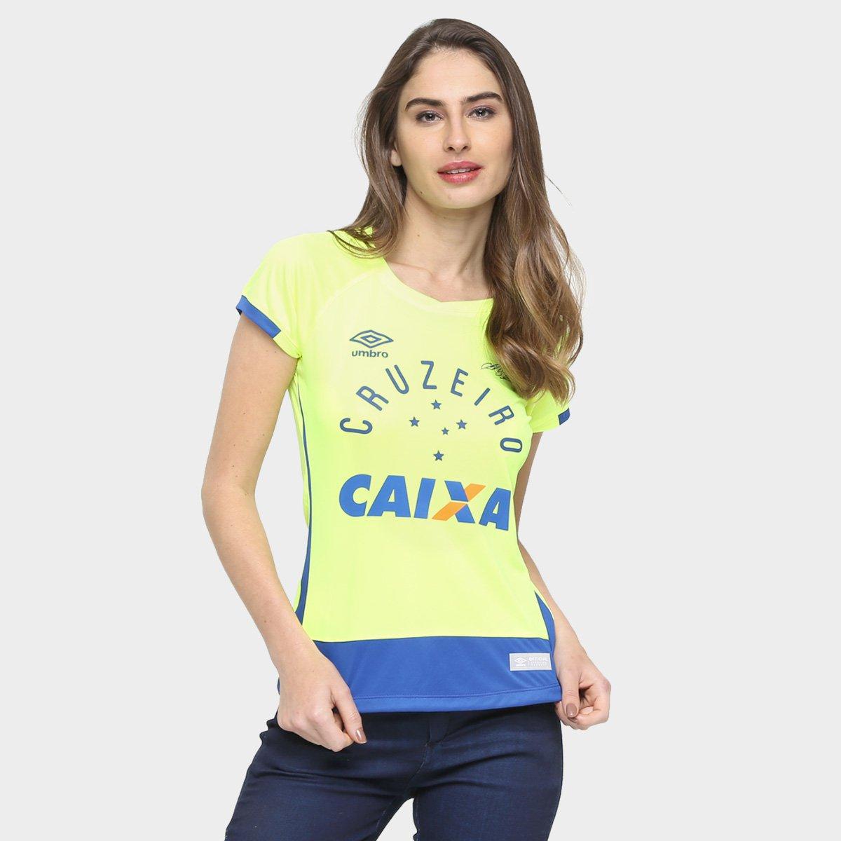 Camisa Cruzeiro Goleiro 2016 nº 1 - Fábio - Torcedor Umbro Feminina -  Compre Agora  359ea3dbaec67