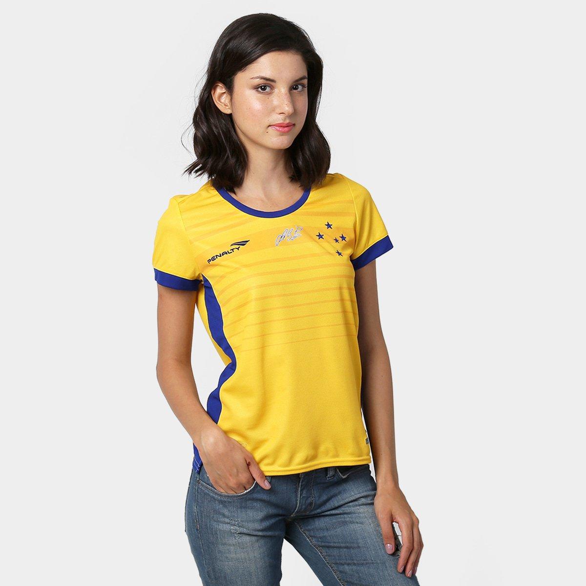 Camisa Cruzeiro Goleiro I 2015 nº 1 Fábio - Torcedor Penalty Feminina -  Compre Agora  4aef1bc85ffb9