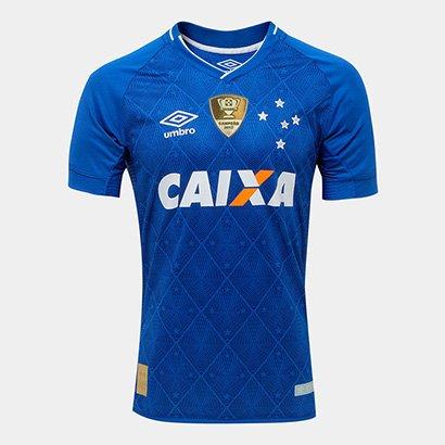 Camisa Cruzeiro I 17 18 s nº Patch Campeão Copa do Brasil Jogador Umbro  Masculina - Compre Agora  92a195877d4d1