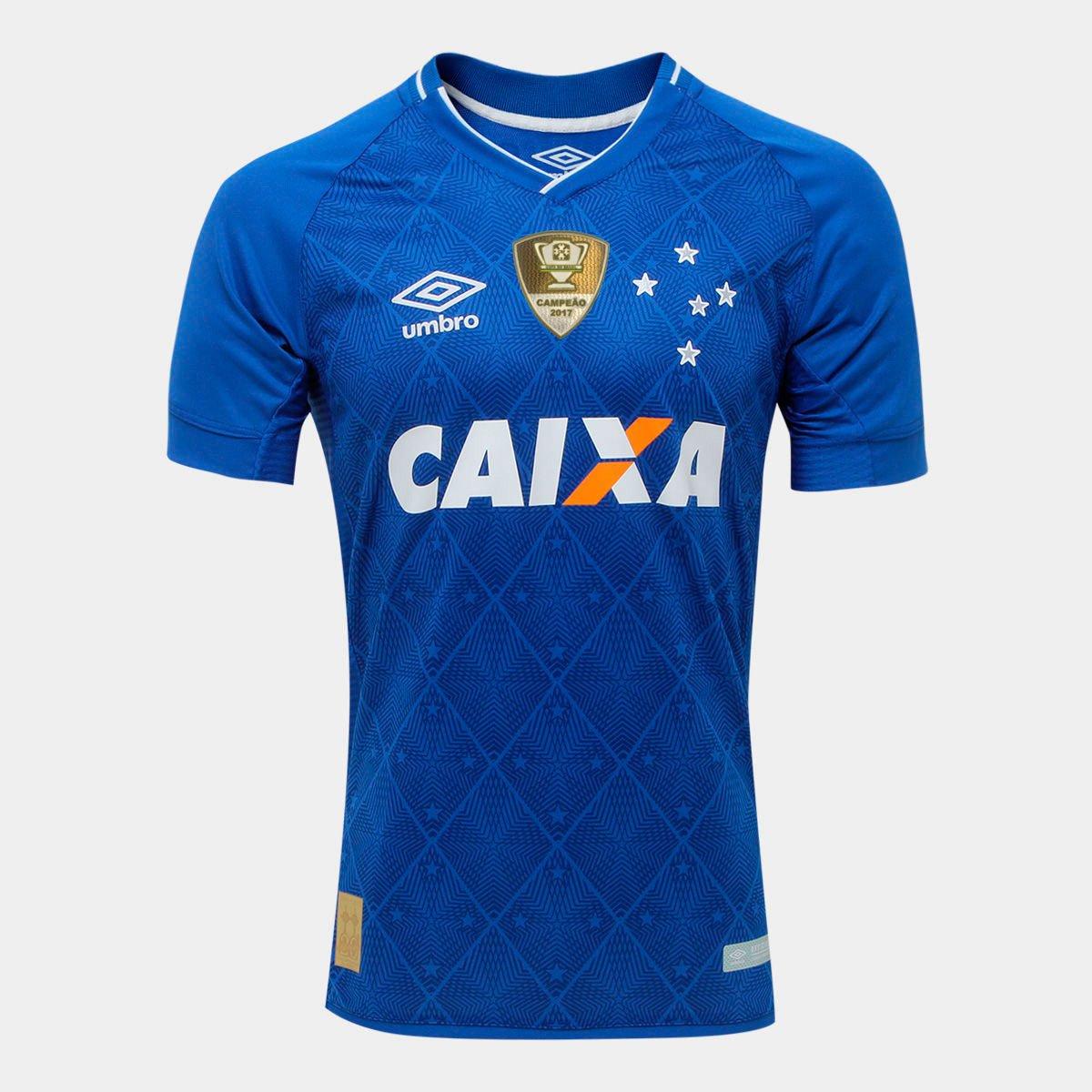 Camisa Cruzeiro I 17 18 s nº Patch Campeão Copa do Brasil Jogador Umbro  Masculina - Compre Agora  825f245385719