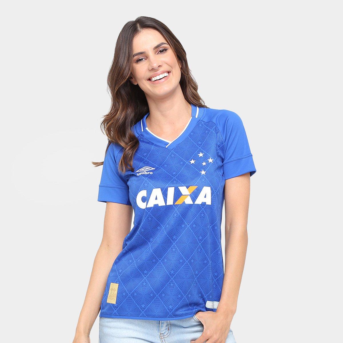 4fc3aa4b913b6 Camisa Cruzeiro I 17 18 s nº Torcedor Umbro Feminina - Compre Agora ...