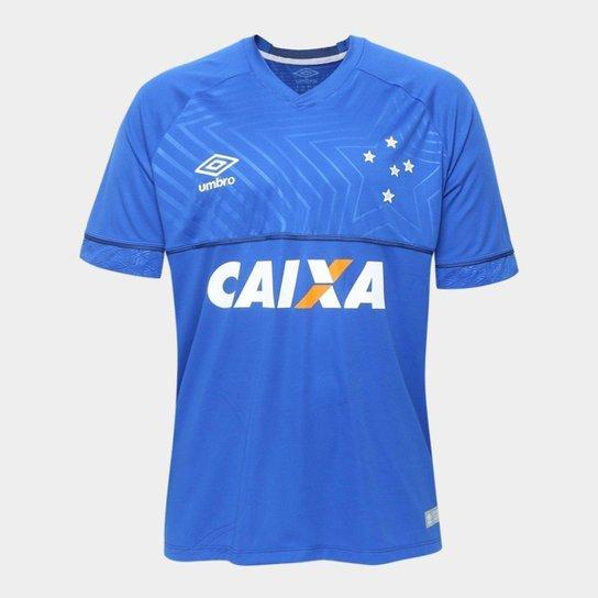 Camisa Cruzeiro I 18/19 s/n° - Jogador Umbro Masculina - Azul
