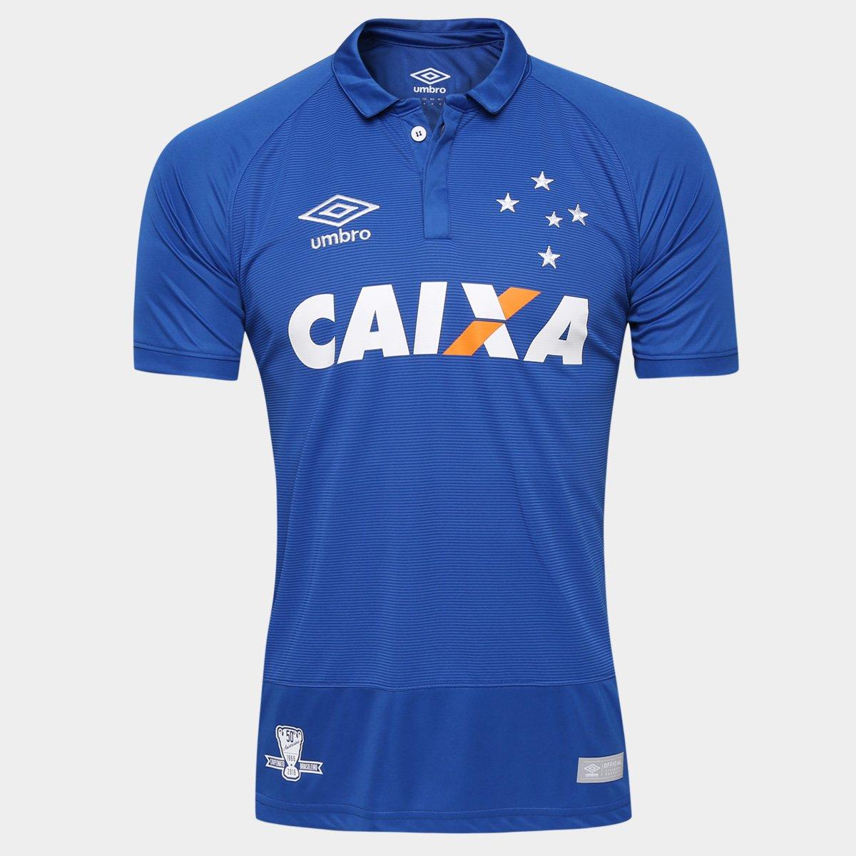 a402936c72 Camisa Cruzeiro I 2016 s nº Jogador Umbro Masculina - Compre Agora ...