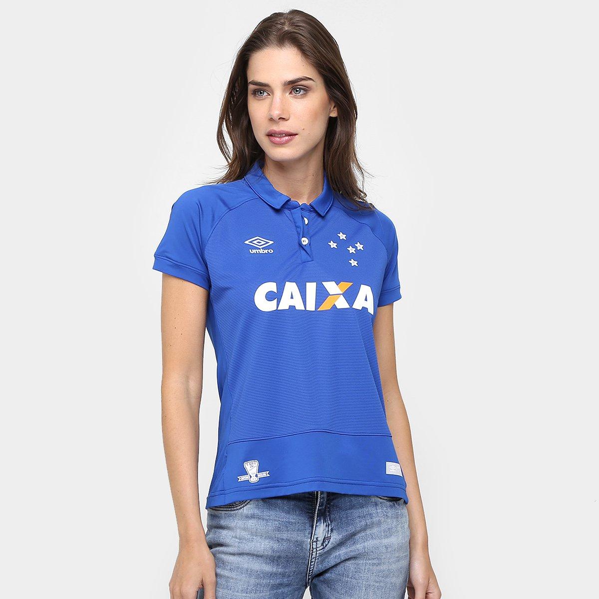 Camisa Cruzeiro I 2016 s nº Torcedor Umbro Feminina - Compre Agora ... 04d389d745bdd
