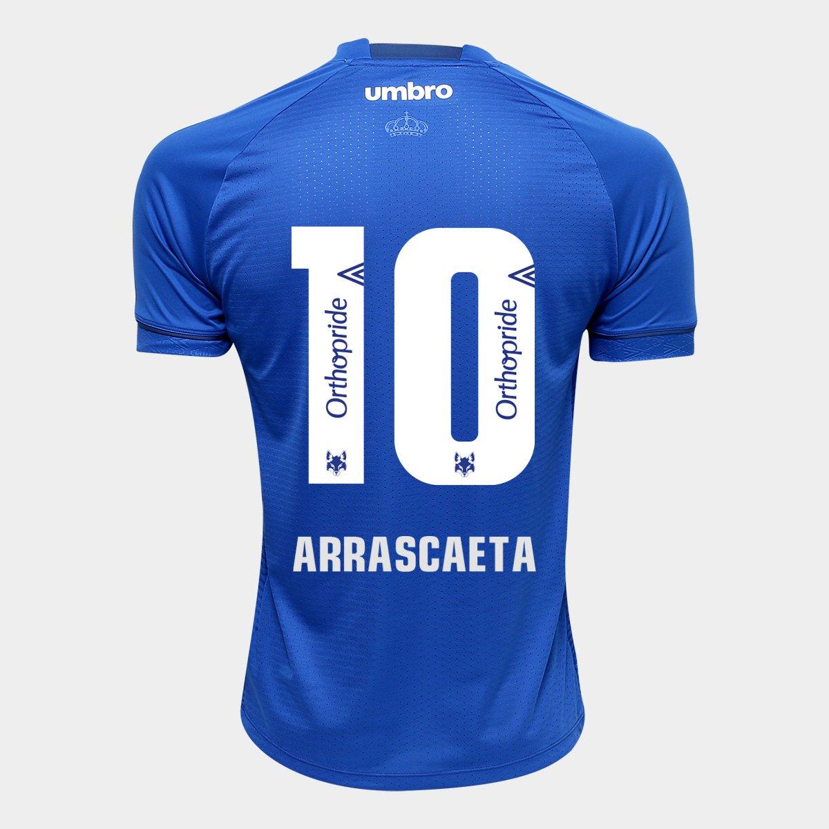 845c567e29b61 Camisa Cruzeiro I 2018 N° 10 Arrascaeta - Torcedor Umbro Masculina - Compre  Agora