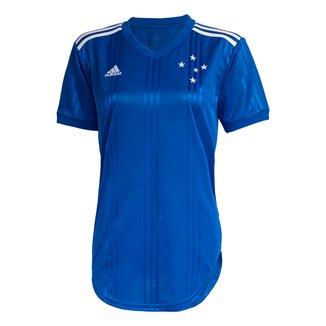 Camisa Cruzeiro I 20/21 s/nº Torcedor Adidas Feminina