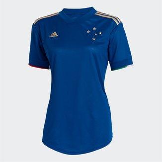 Camisa Cruzeiro I 21/22 s/n° Torcedor Adidas Feminina
