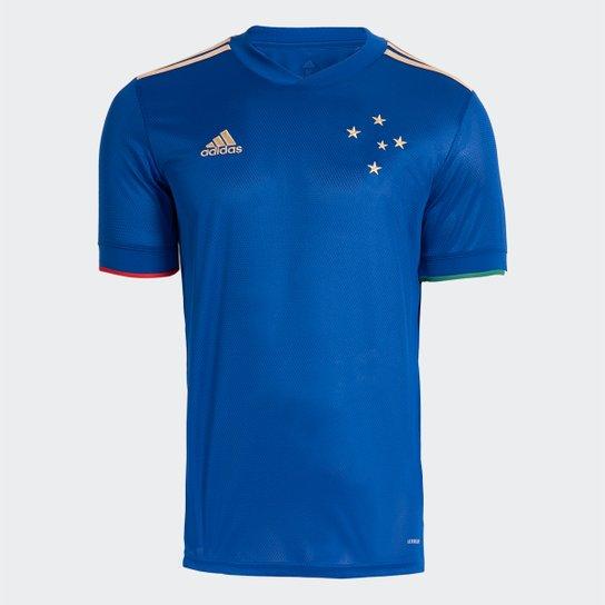 Camisa Cruzeiro I 21/22 s/n° Torcedor Adidas Masculina - Azul