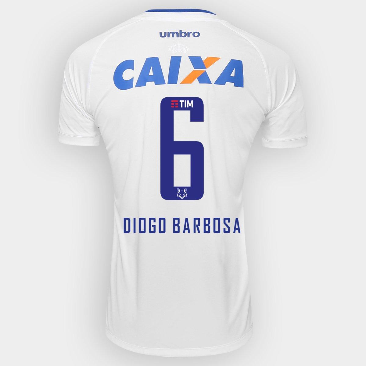 Camisa Cruzeiro II 2016 N° 6 Diogo Barbosa - Torcedor Umbro Masculina -  Compre Agora  7bae6e0d85e93