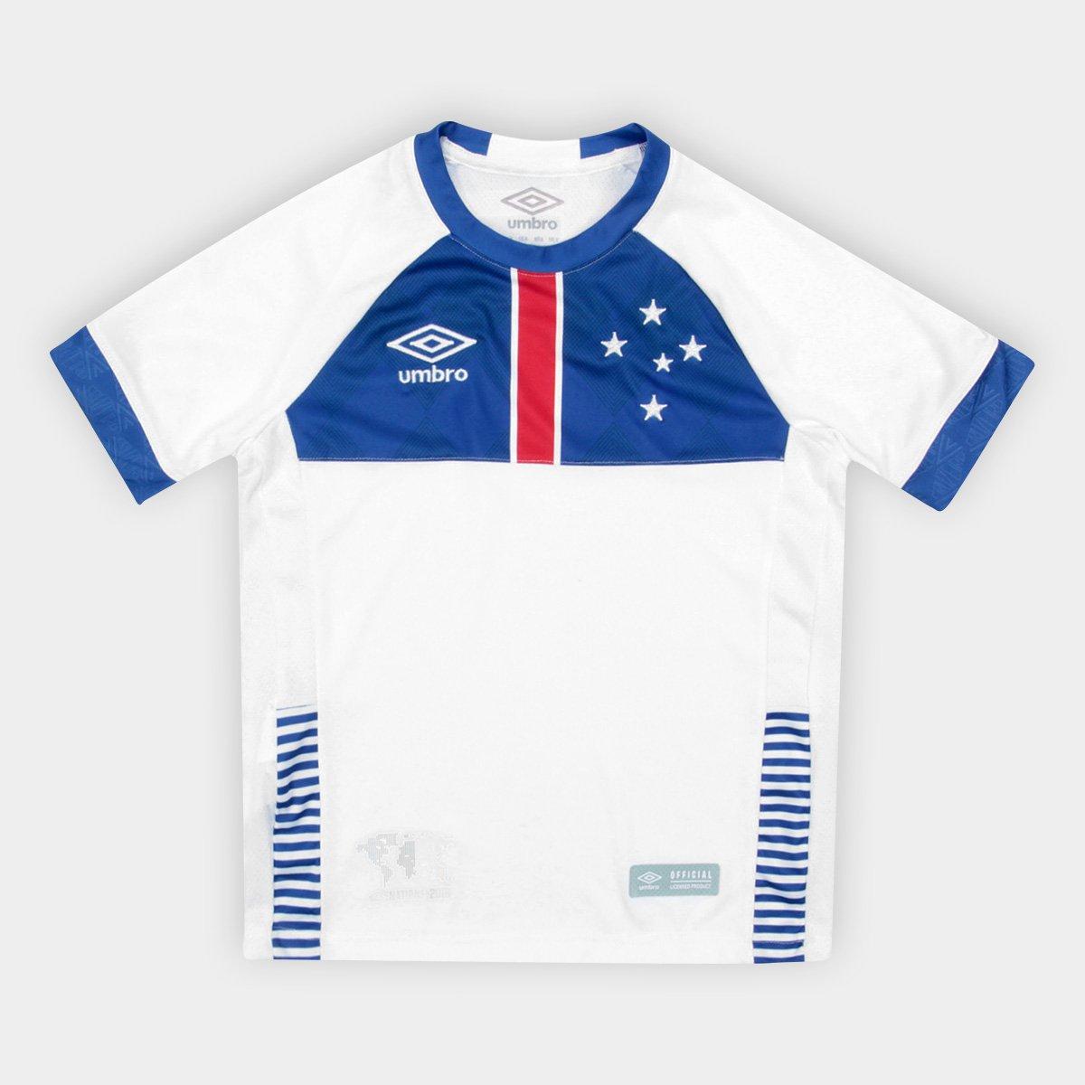 6b6a517cd5 e Vikingur Branco Blaa Infantil s 2018 Azul Torcedor Umbro Camisa n°  Cruzeiro II qwF4C4 ...
