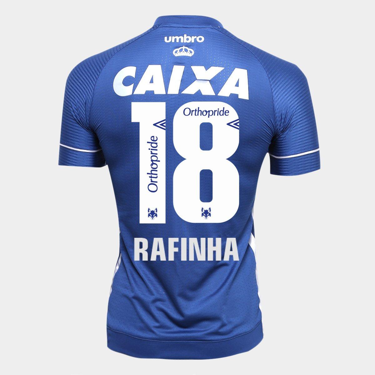 Camisa Cruzeiro III 17 18 N° 18 Rafinha Torcedor Umbro Masculina ... 64d8c2c2c60a0