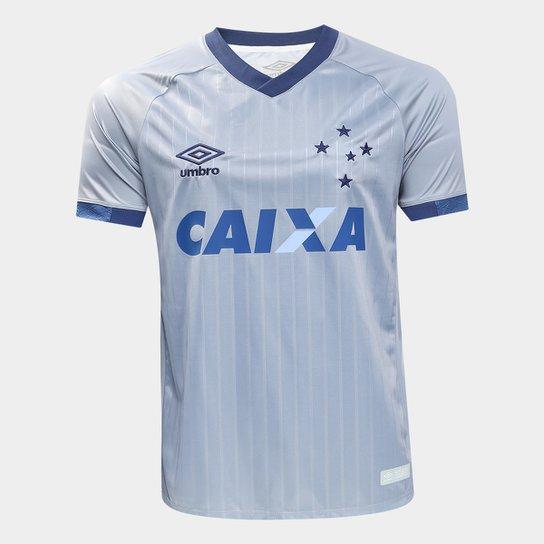 Camisa Cruzeiro III 18/19 s/n - Torcedor Umbro Masculina - Marinho+Prata