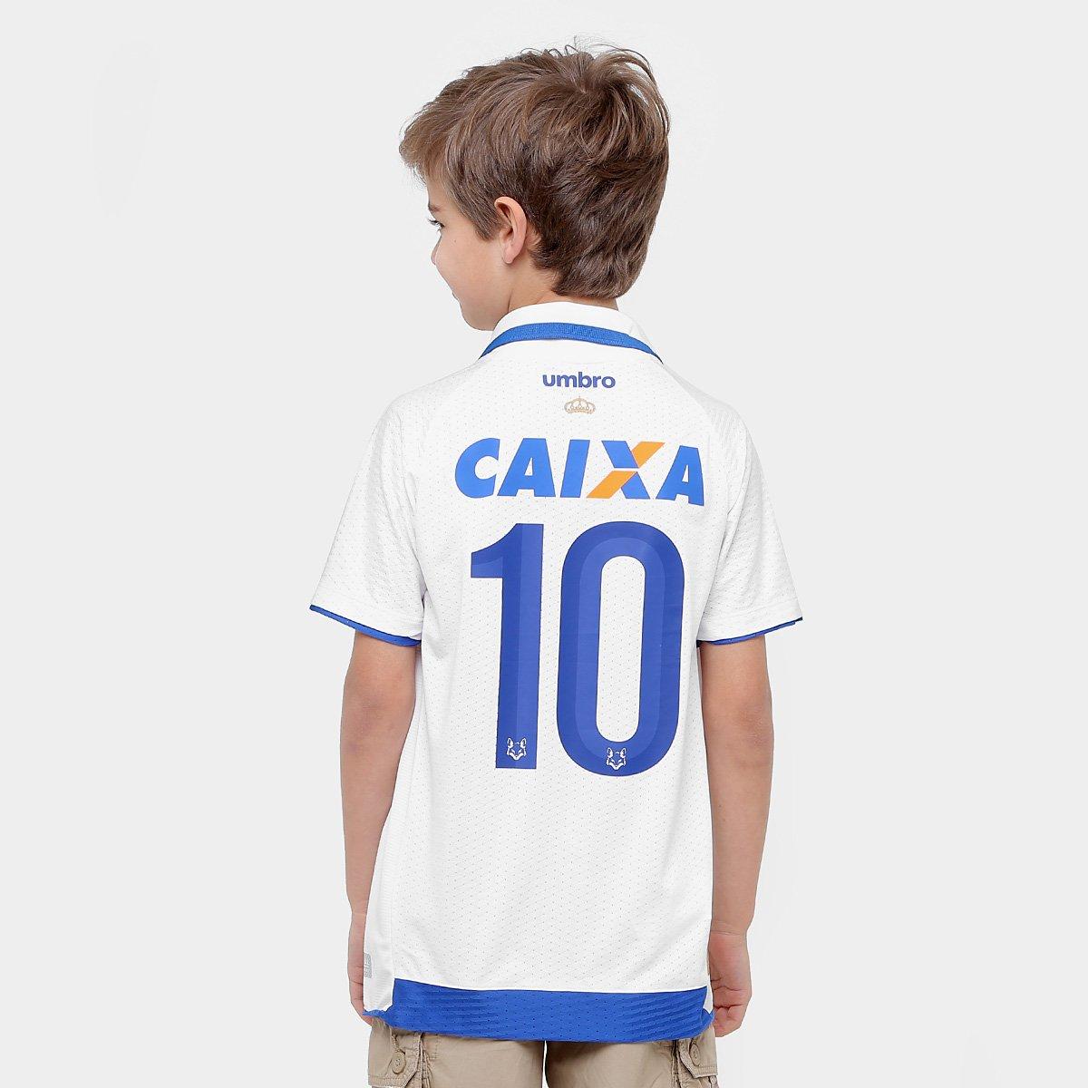18 e 17 nº Umbro Torcedor s Infantil II Azul Cruzeiro Branco Camisa 7CwqZfZ