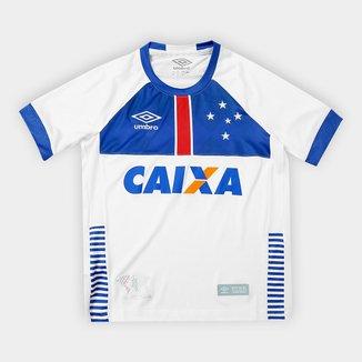 Camisa Cruzeiro Infantil II 2018 s/n°  C/ Patrocínio Blaa Vikingur Torcedor Umbro