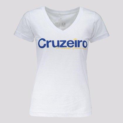 Camisa Cruzeiro Jamais Vencido Feminina Branca