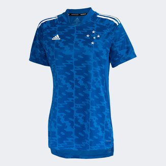 Camisa Cruzeiro Pré-Jogo 21/22 Adidas Feminina