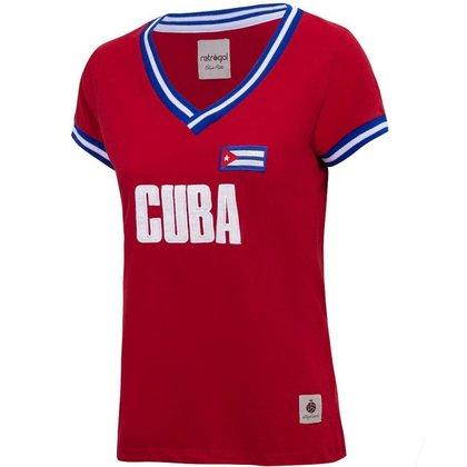 Camisa Cuba Retrô Feminina