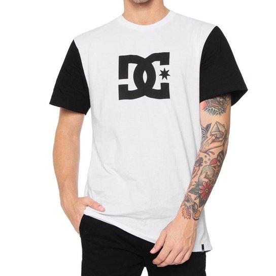 Camisa DC Básica Star 2 Cinza Masculino - Branco