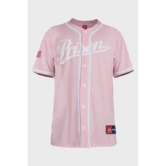 Camisa de Baseball League Prison Rosa