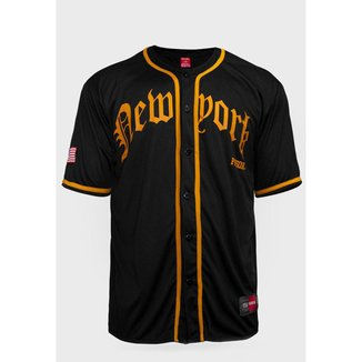 Camisa de Baseball Prison New York Premium Preta