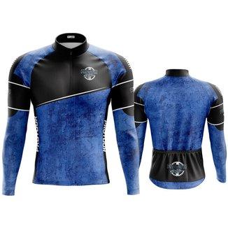 Camisa de ciclismo Maculina Manga Longa Masculina Pro Tour jeans Dry Fit Proteção UV 50+