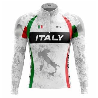 Camisa de ciclismo masculina manga longa Be Fast Classic Italy