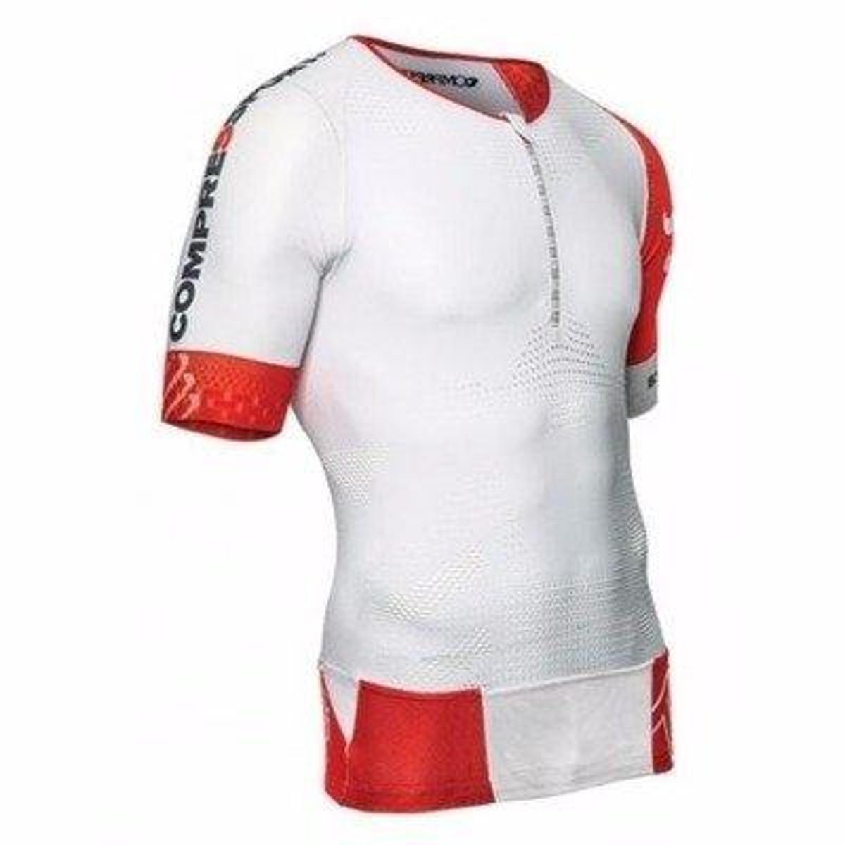de Camisa Triathlon Compressão Camisa de Compressport Branco TR3 qZBBHEwT
