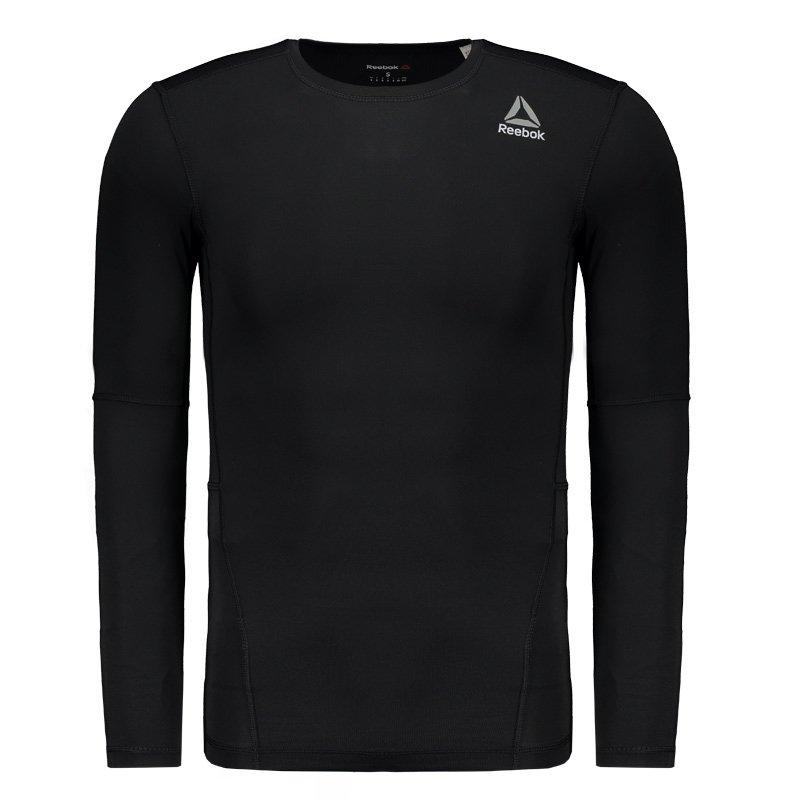 0325dd98df Camisa de Compressão Reebok Wor Solid Preta - Compre Agora