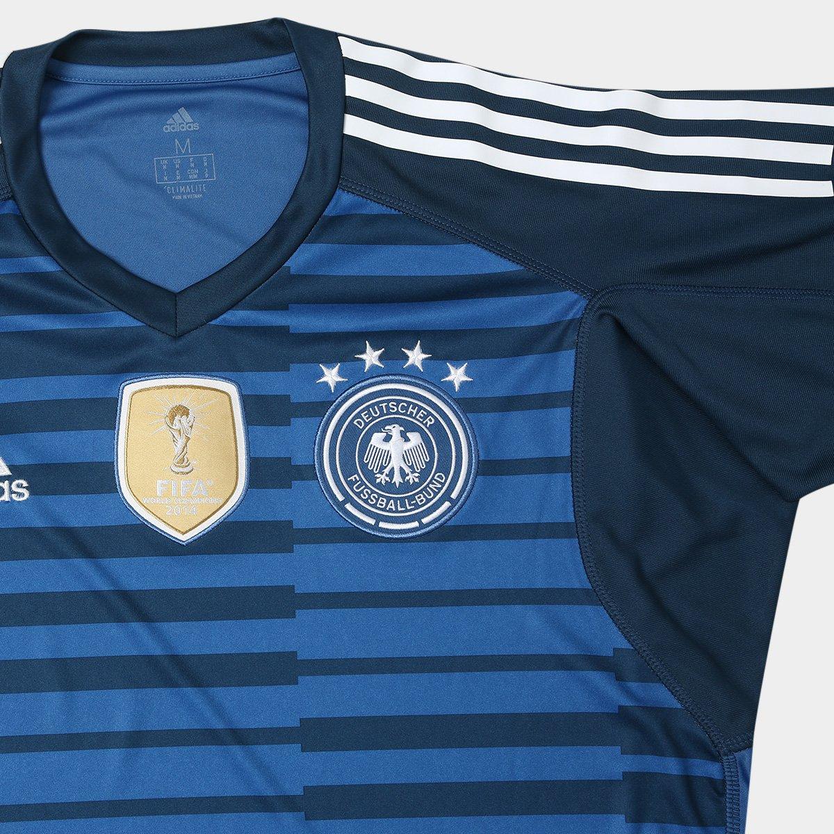 f30b564e3b22e ... Goleiro Alemanha 2018 n° 12 Trapp - Torcedor Adidas Masculina - Azul.  NCARD-CAMISAS