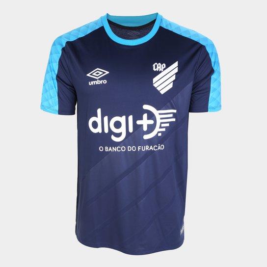 Camisa de Goleiro Athletico Paranaense 19/20 Umbro Masculina - Marinho+Azul