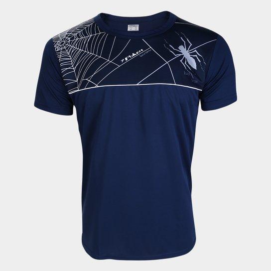 Camisa de Goleiro Black Spider Poker Masculina - Marinho+Branco