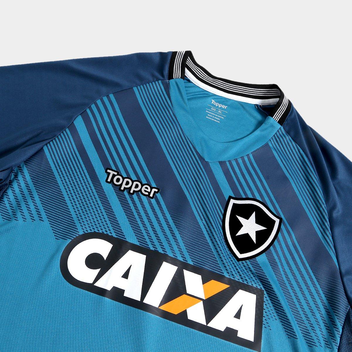 6d0f3d4c6e Camisa de Goleiro Botafogo I 2018 s n° Torcedor Masculina - Azul ...