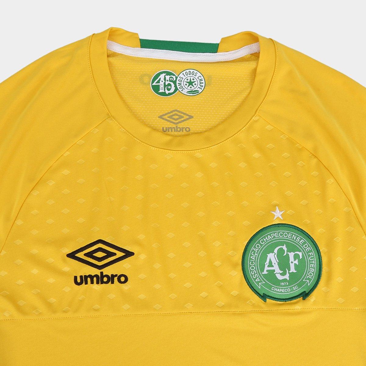 Camisa de Goleiro Chapecoense 2018 s n° Torcedor Umbro Masculina ... ca0b2d25bc724