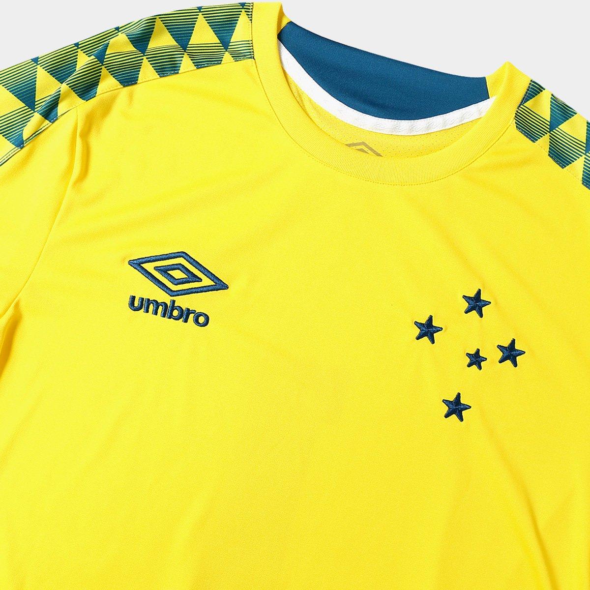 abc5a52449 Camisa de Goleiro Cruzeiro nº 1 2019 Umbro Masculina - Amarelo e ...