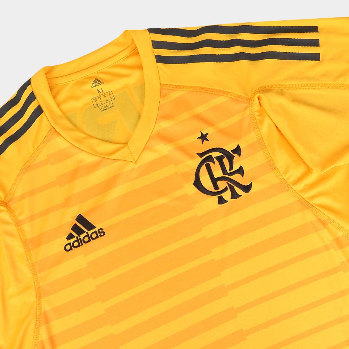 02d7f847ac Camisa de Goleiro Flamengo I 2018 s n° Torcedor Adidas Masculina ...