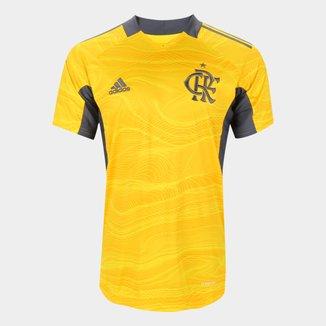 Camisa de Goleiro Flamengo I 21/22 s/n° Torcedor Adidas Masculina