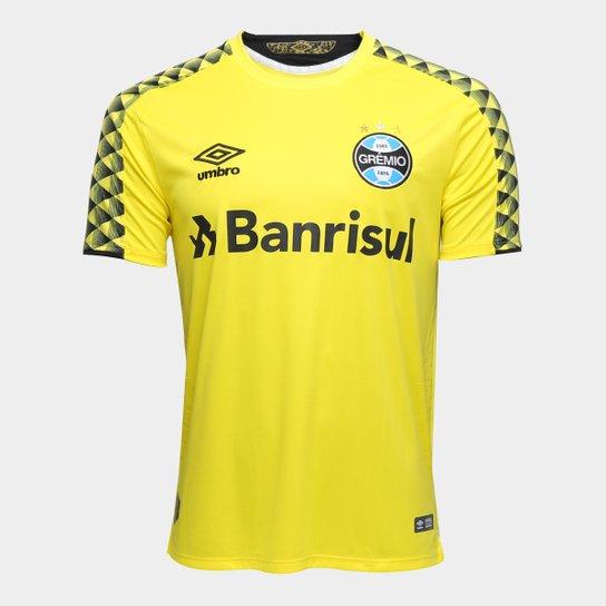 Camisa de Goleiro Grêmio 19/20 nº 1 Torcedor Umbro Masculina - Amarelo+Preto