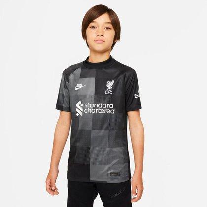 Camisa de Goleiro Liverpool  2021/22 Torcedor Pro Infantil