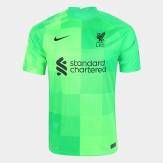 Camisa de Goleiro Liverpool 21/22 s/n° Torcedor Nike Masculina