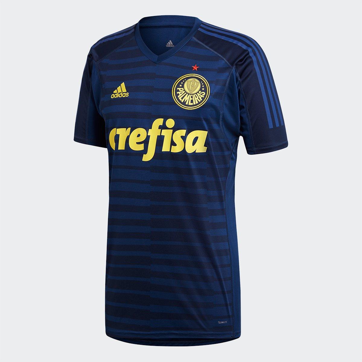 1e17b222289c7 Camisa de Goleiro Palmeiras 2018 s n° - Torcedor Adidas Masculina - Azul -  Compre Agora