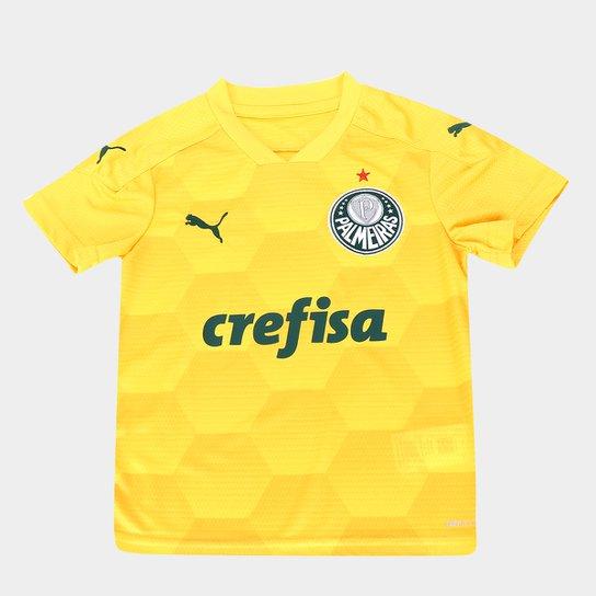 Camisa de Goleiro Palmeiras Juvenil I 20/21 s/n° Torcedor Puma - Amarelo