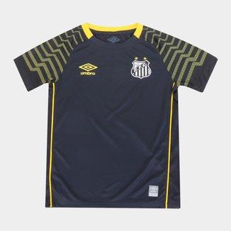 Camisa de Goleiro Santos Juvenil 21/22 s/n° Torcedor Umbro