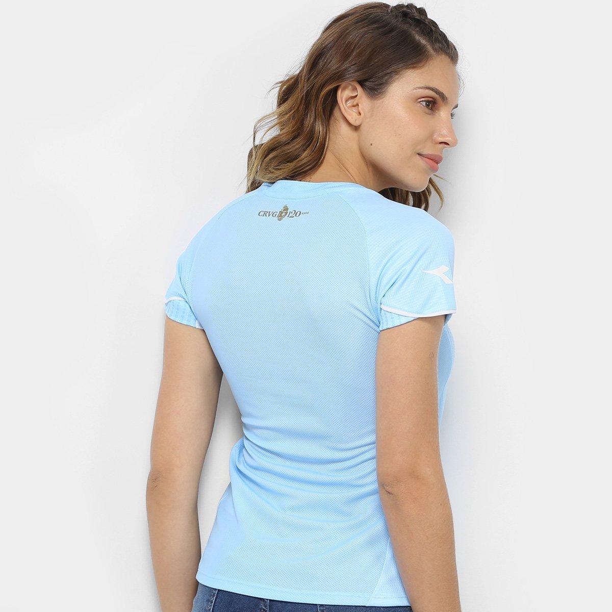 c10cca12f3 Camisa de Goleiro Vasco I 2018 s n° Torcedor Diadora Feminina - Azul ...