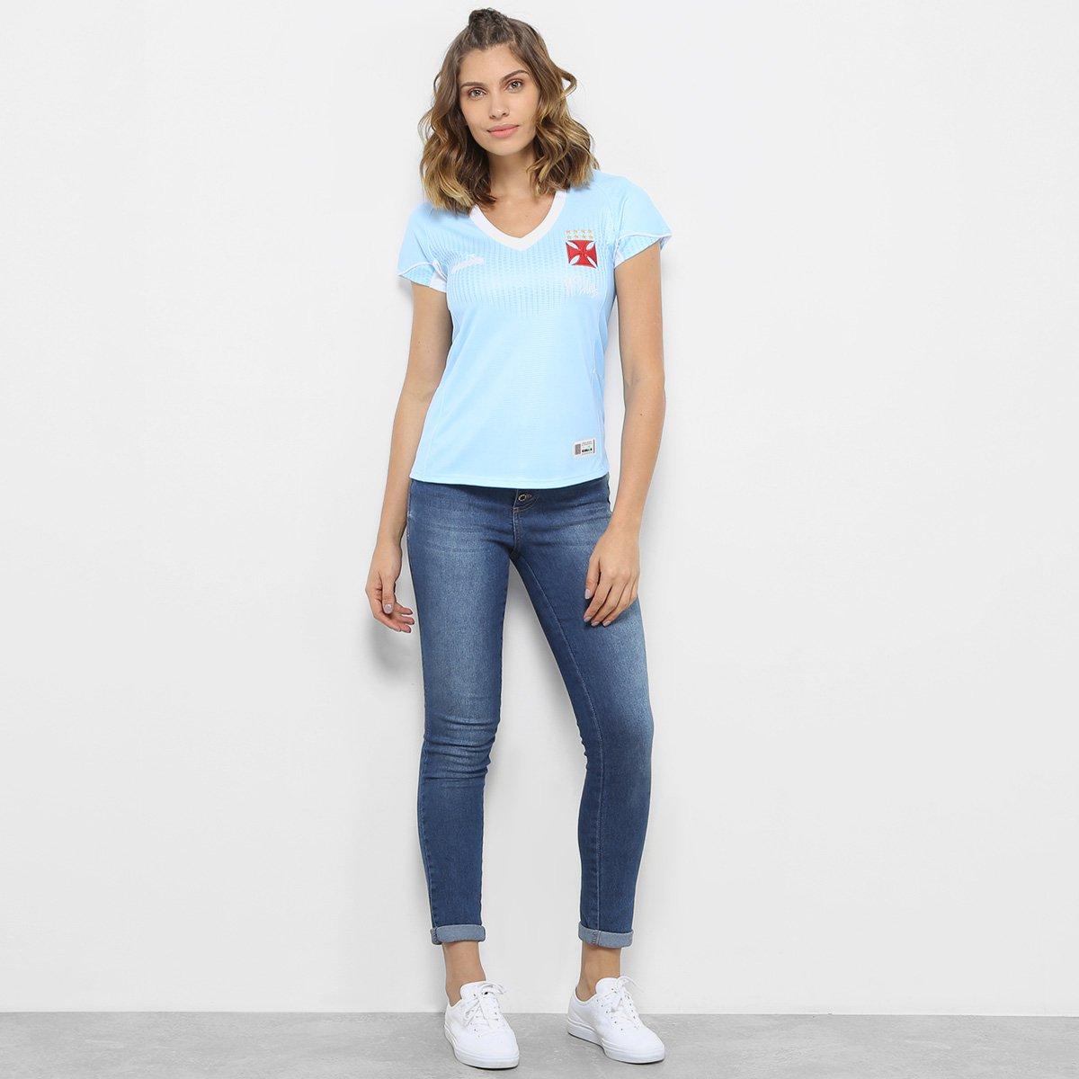 Camisa de Goleiro Vasco I 2018 s n° Torcedor Diadora Feminina - Azul ... f08ae21b02cff