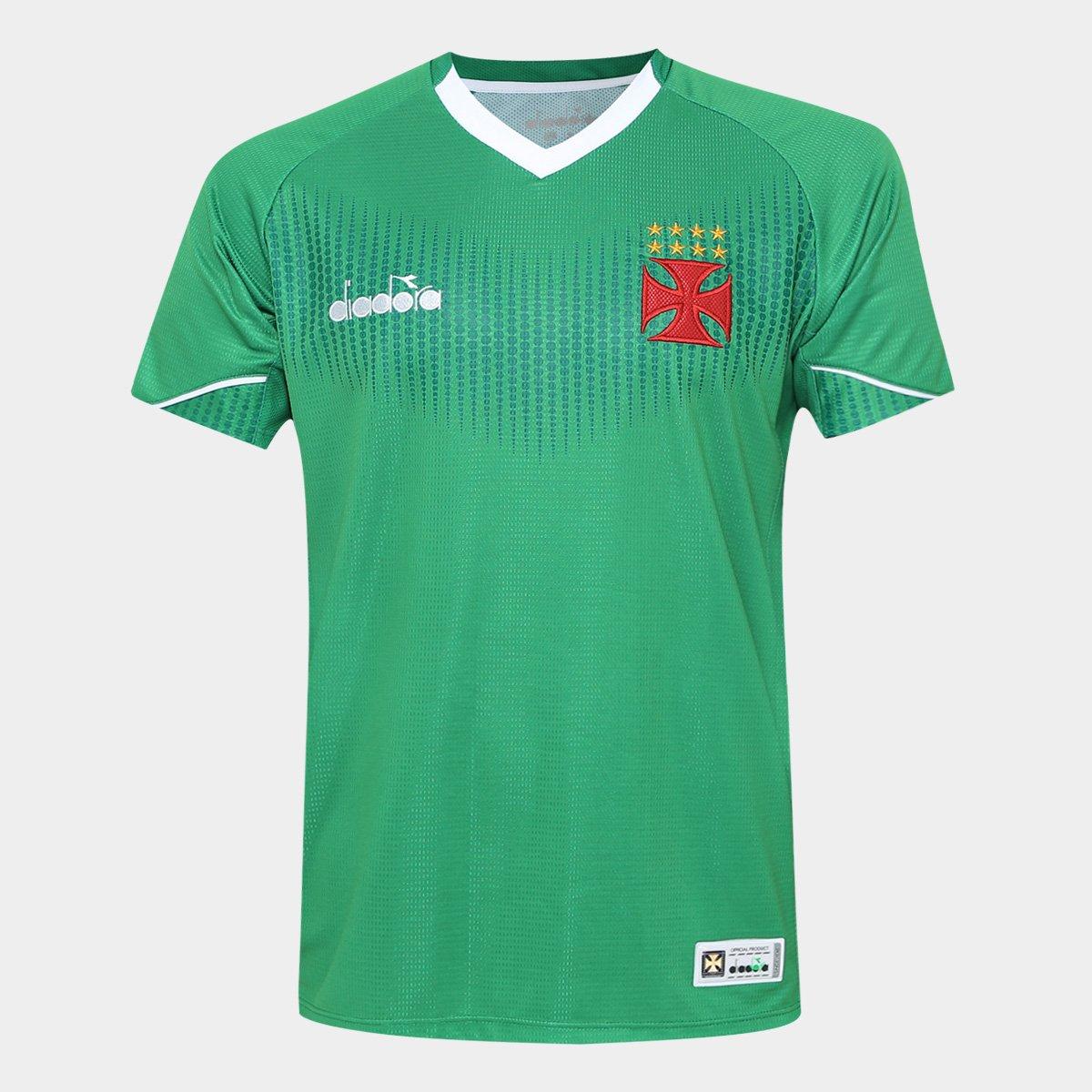 Camisa de Goleiro Vasco II 2018 s n° Torcedor Diadora Masculina ... d21d8b8c0fe91