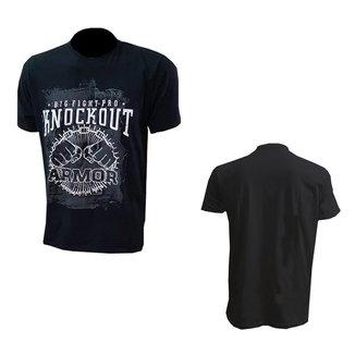 Camisa de malha manga curta Knockout Preto 100% algodão