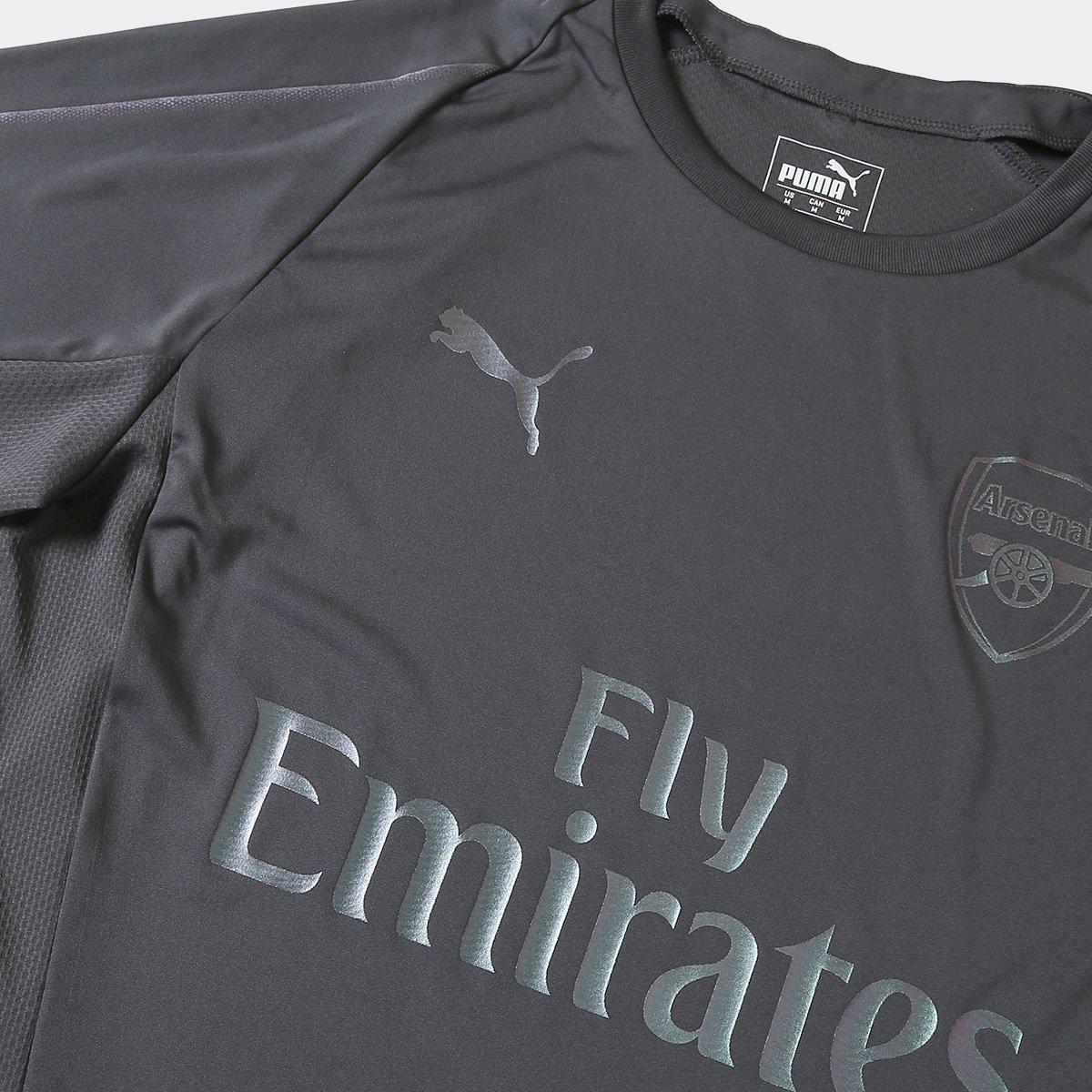 Camisa de Treino Arsenal 18 19 s nº Puma Masculina - Cinza - Compre ... 2eba3eb419758