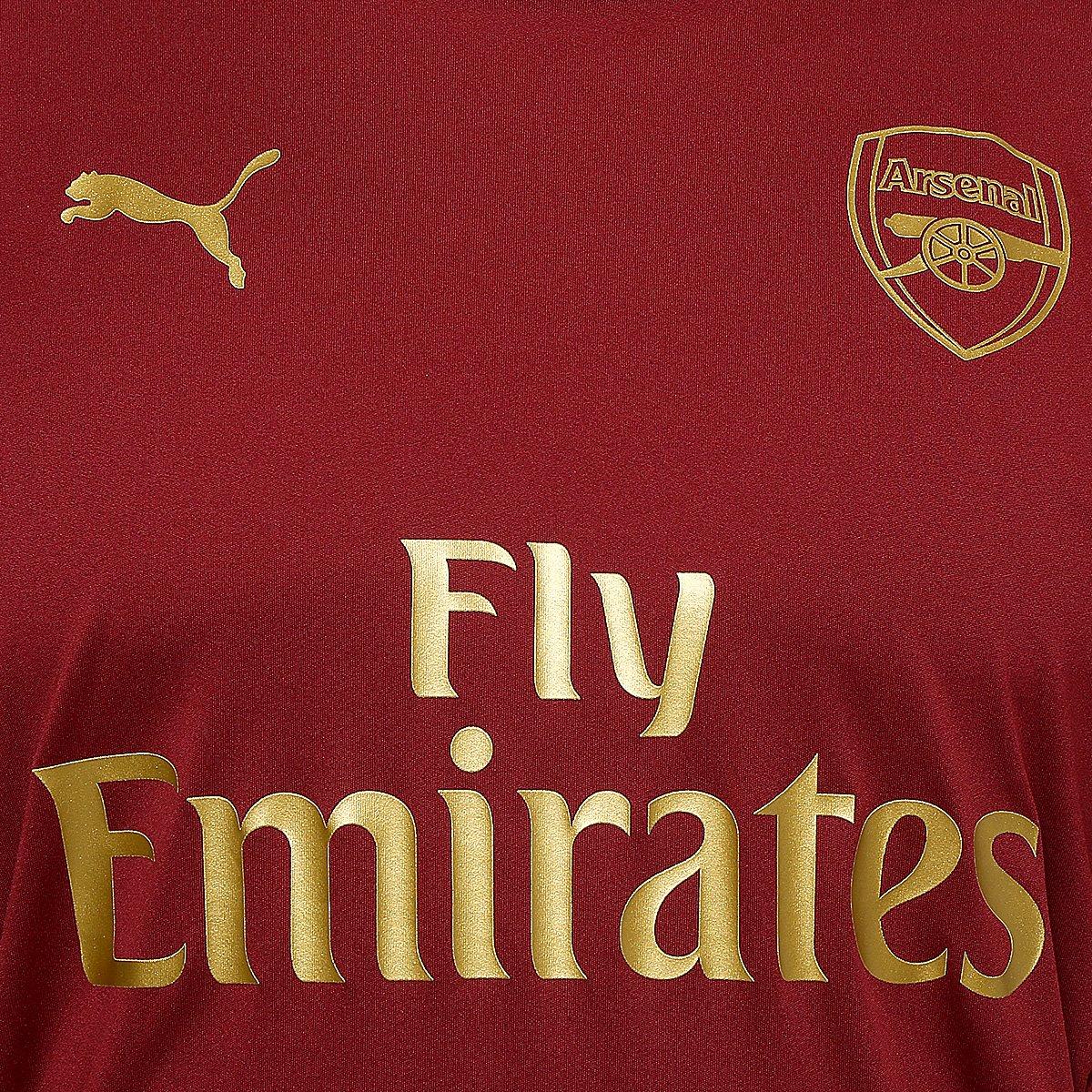 4b2e6b5a2f Camisa de Treino Arsenal 18 19 s nº Puma Masculina - Vermelho ...
