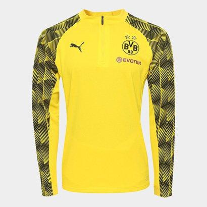 30e47eedcc78e Camisa De Treino Manga Longa Borussia Dortmund Puma Stadium Masculina